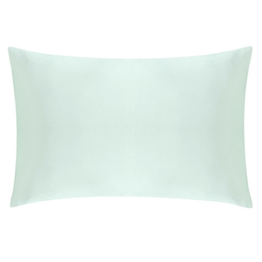 mint green silk pillowcase